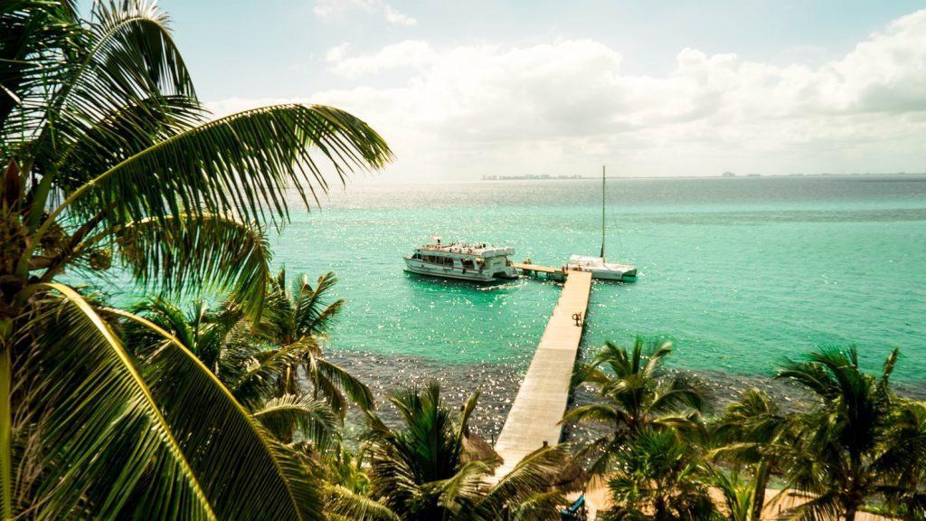 Isla Mujeres Meksyk palmy morze