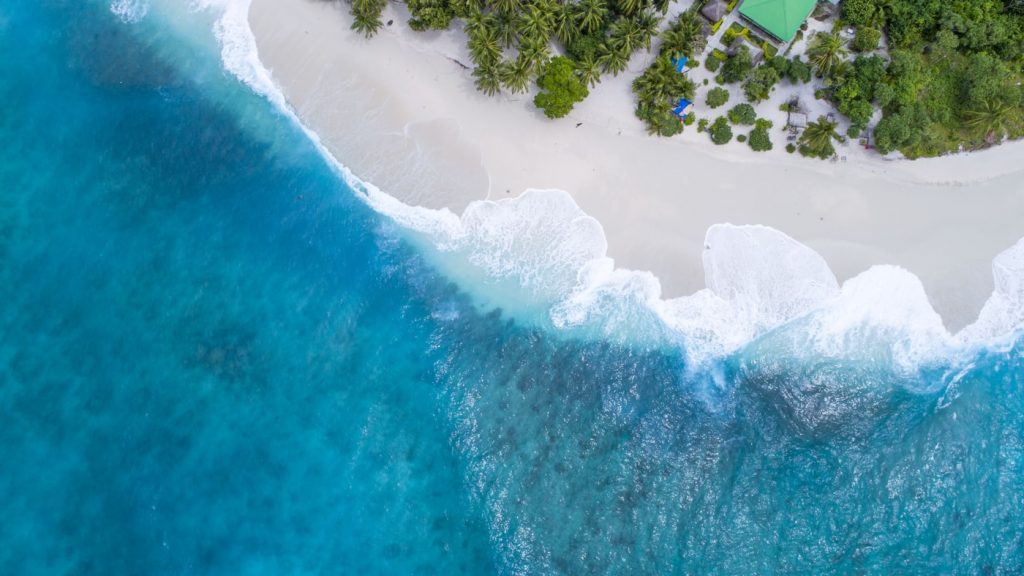 Malediwy z lotu ptaka