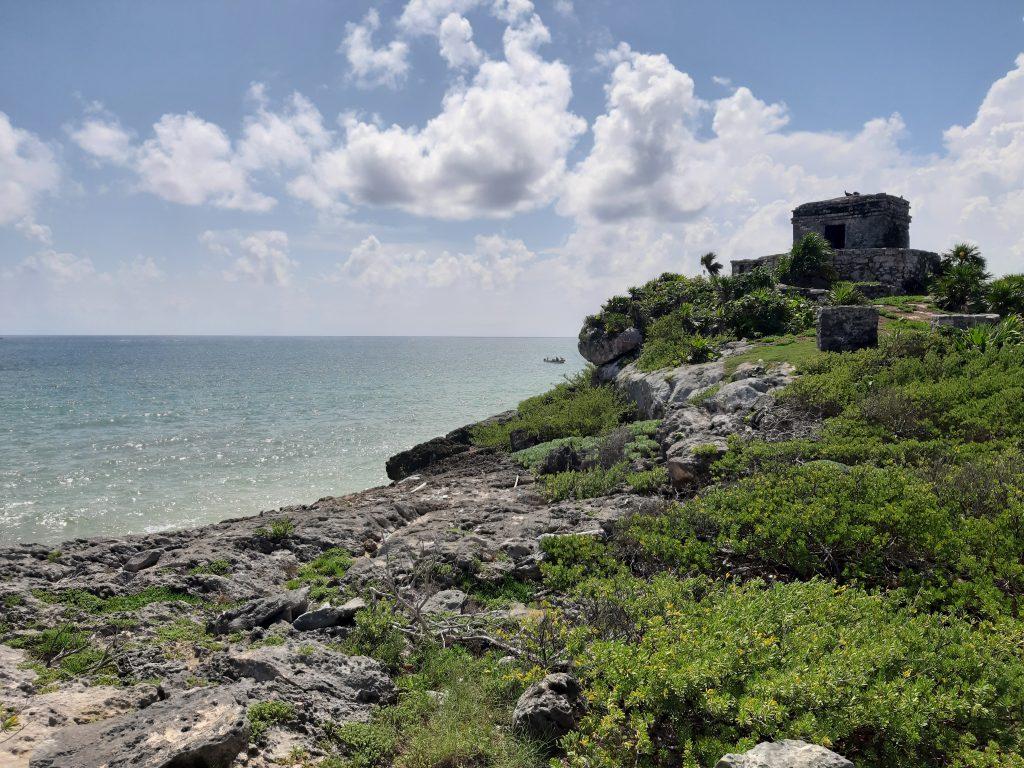 Tulum ruiny morze