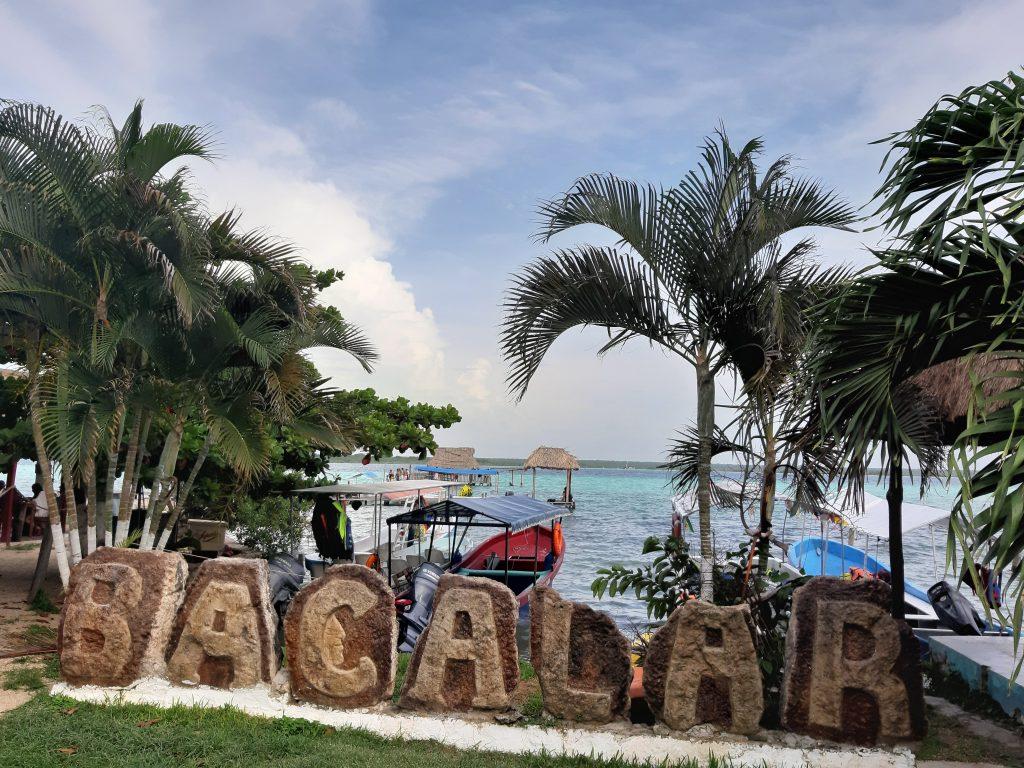 Bacalar Jezioro Meksyk napis
