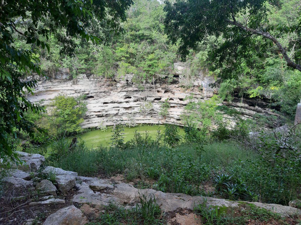 Cenote Sagrado Chitzen Itza Meksyk Jukatan