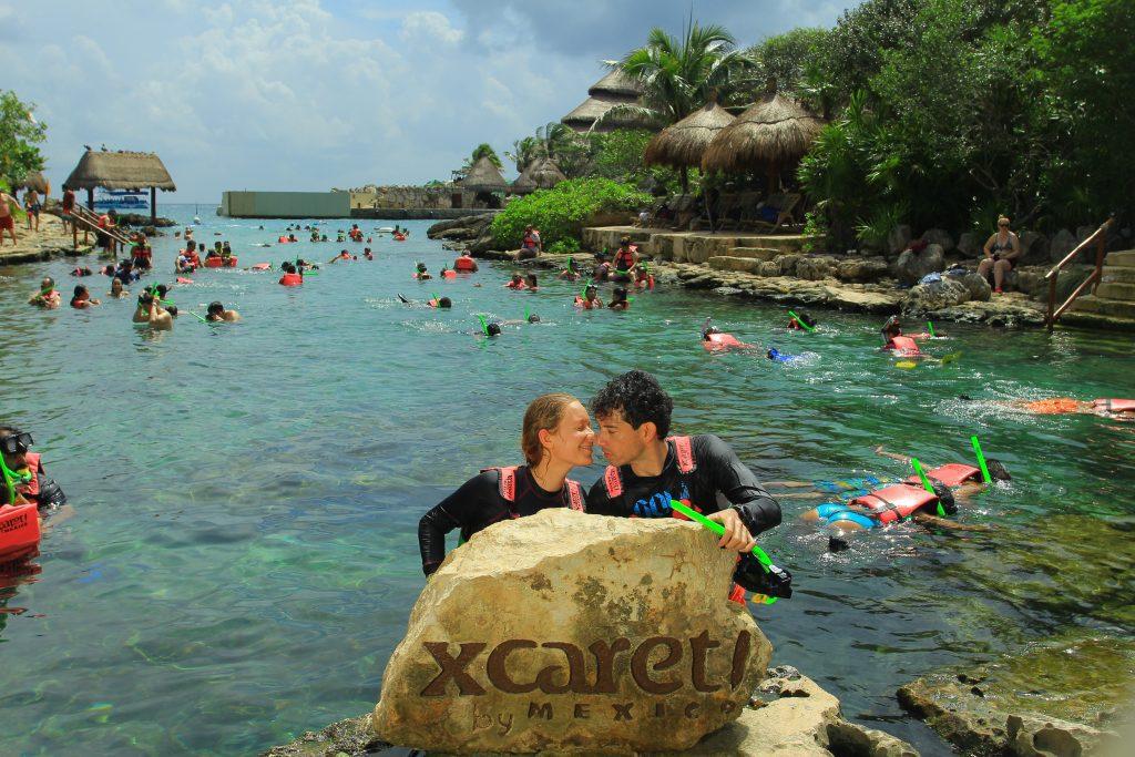Xcaret morze para snorkeling Meksyk
